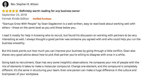 Startups Grow With People Reader Comments